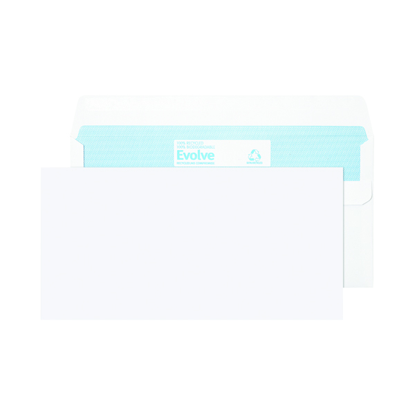 Image for Evolve DL Recycled Envelope Self Seal 90gsm White (Pack of 1000) RD7882