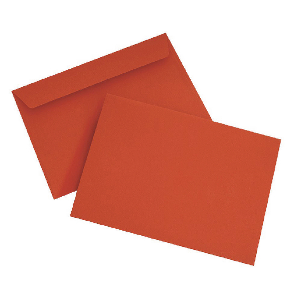 Pillar Box Red C6 Wallet Envelope Peel and Seal 120gsm (250 Pack) BLK93012
