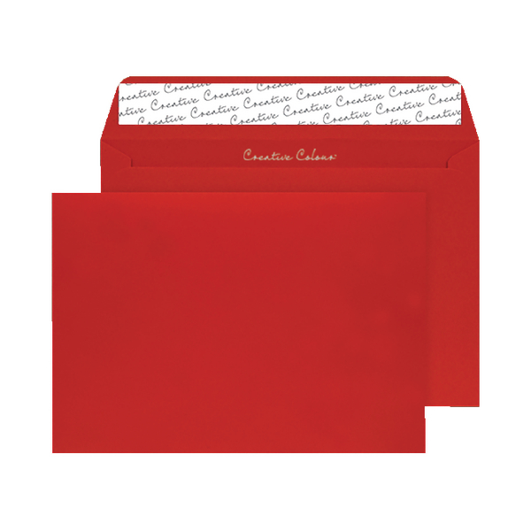 Pillar Box Red C4 Wallet Envelope Peel and Seal 120gsm (250 Pack) BLK93024