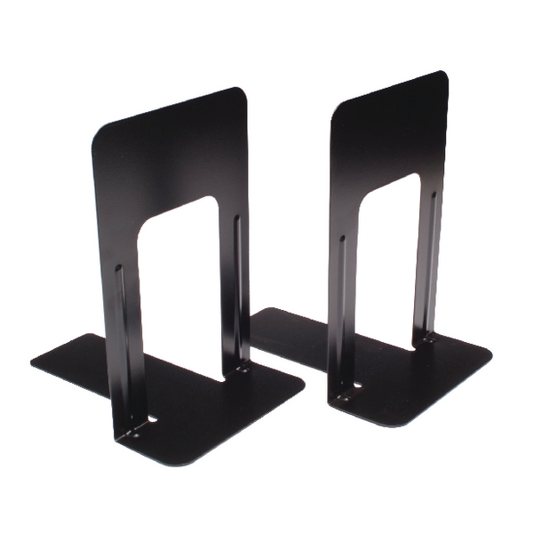 Large Deluxe Bookends Black One Pair (2 Pack)