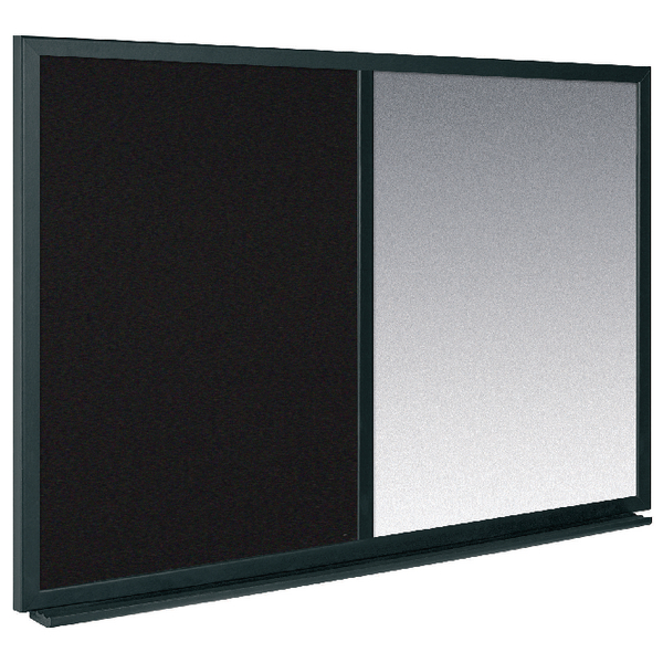 Bi-Office Combo Message Board 600x900mm Black /Silver MX07232169