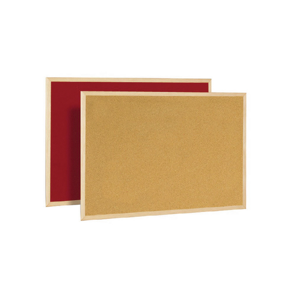 Bi-Office Cork/Felt Double-Sided Board 600x900mm FB0710010