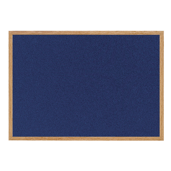 Bi-Office Earth-it Felt Notice Board 1200x900mm Blue RFB1443233