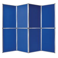 Bi-Office 8 Panel Display Kit Blue (Pack of 1) DSP340118
