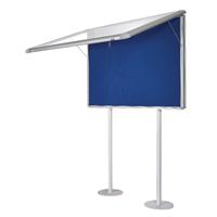 Bi-Office Post Mounted 15xA4 Sunken Display Case