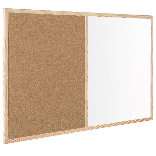 Bi-Office Wood Frame Cork/Drywipe Board 600x400mm MX03001010