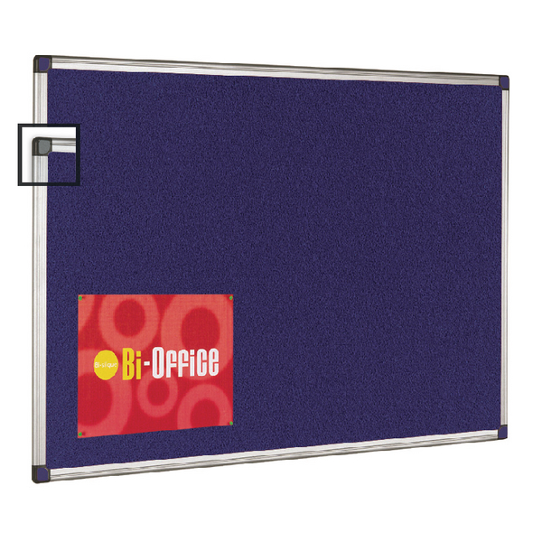 Bi-Office Aluminium Trim Felt 900x600mm Notice Board FA0343170