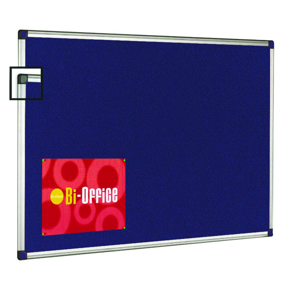 Bi-Office Aluminium Trim Felt Notice Board 1200x900mm FA0543170