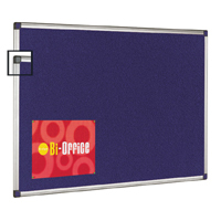 Bi-Office Blue Felt Notice Board 2400 x 1200mm (Pack of 1) FA2743170