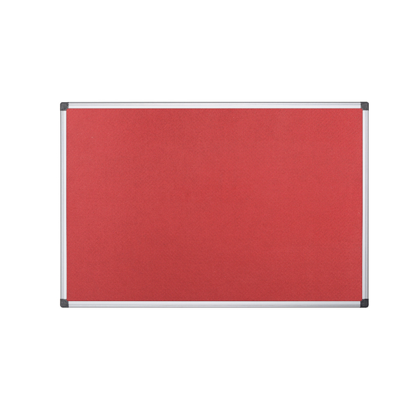 Bi-Office 1200x900mm Red Felt Board FA0546170