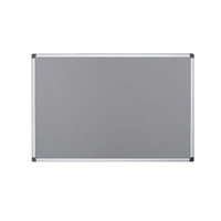 Bi-Office Felt Board 1200 x 900mm Grey (Pack of 1) FA0542170