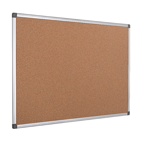 Bi-Office Aluminium Frame 900x600mm Cork Notice Board CA031170