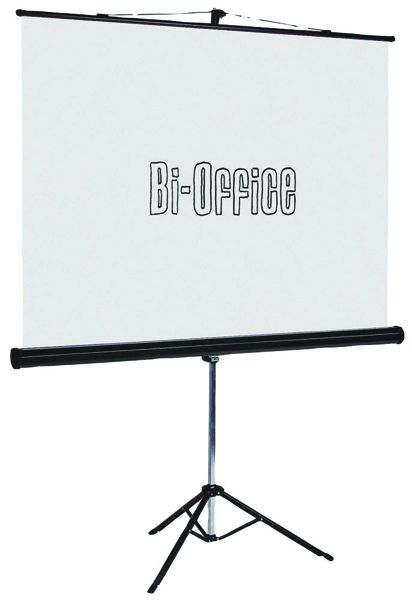 Bi-Office Black 1750mm Tripod Projection Screen 9D006021