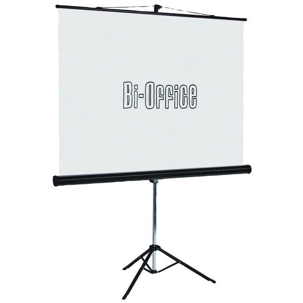 Bi-Office Black 1500mm Tripod Projection Screen 9D006020