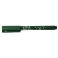 Berol Black Italic Pen Medium (Pack of 12) S0379090