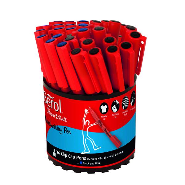 Berol Handwriting Pen Assorted Tub (Pack of 36) S0879230