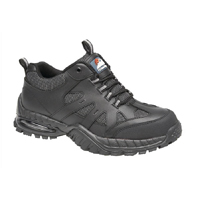 Briggs Proforce Air Bubble Black Leather Safety Trainer Size 8 (Pack of 1) 4041-8