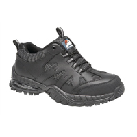 Briggs Proforce Air Bubble Black Leather Safety Trainer Size 9 (Pack of 1) 4041-9