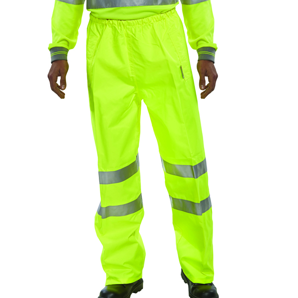 Proforce Yellow High Visibility Trousers Class 1 Extra Large