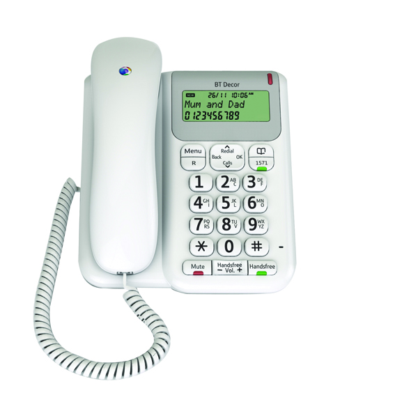 Image for BT Decor 2200 Corded Phone White 061127