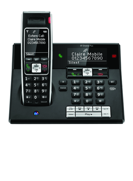 BT Diverse 7460 Plus DECT Telephone Single Black 44713