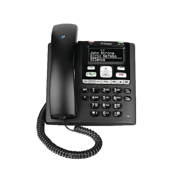 Image for BT Paragon 650 Corded Phone With Answer Machine Black 032116