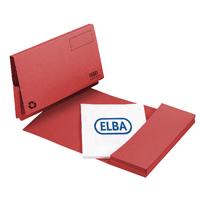 Elba Red Longflap Document Wallet (50 Pack) 100090257