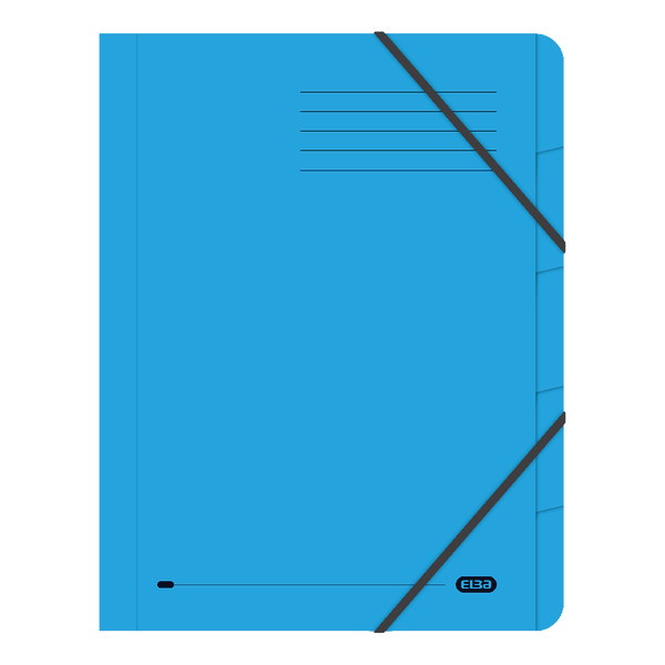 Elba Strongline 5 Part Blue File (Pack of 5) 100090166