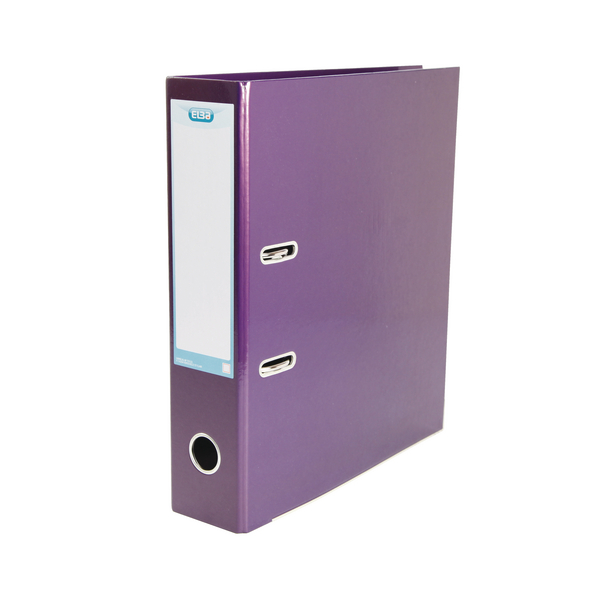 Elba Classy 70mm Metallic Purple A4 Lever Arch File 400021021