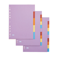 Elba A4 5-Part Card Divider Assorted 100080808