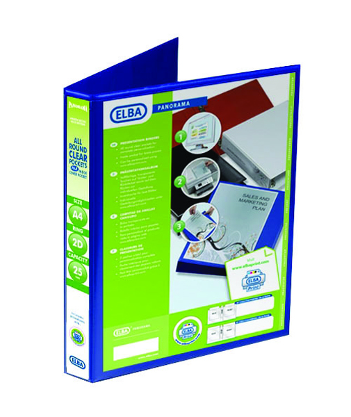 Elba Blue Presentation A4 Ring Binder (6 Pack) 400008412