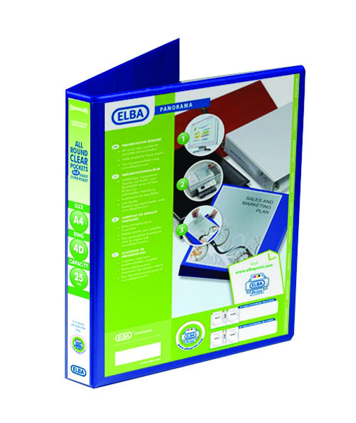 Elba Blue Presentation A4 Ring Binder (6 Pack) 400008415