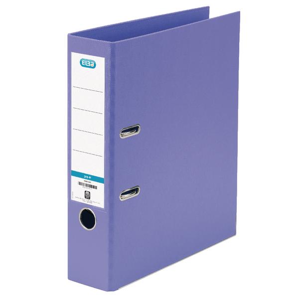 Elba A4 Purple Plastic Lever Arch File 100202167