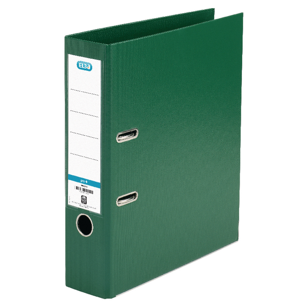 Elba A4 Green Plastic Lever Arch File 100202174