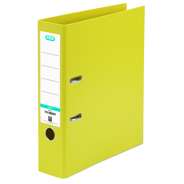 Elba PVC A4 Upright 70mm Yellow Lever Arch File 100080901