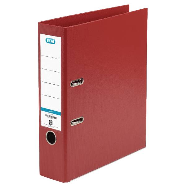 Elba Red A4 Plastic Lever Arch File 70mm Spine 1450-09