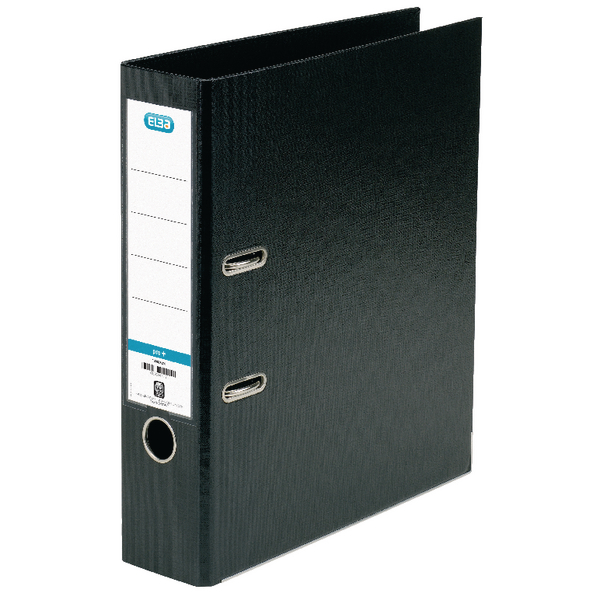 Elba PVC A4 Upright 70mm Black Lever Arch File 100080904