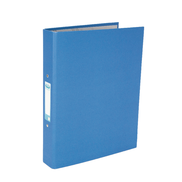 Elba A4 Ring Binder Paper Over Board Blue (Pack of 10) 400033496