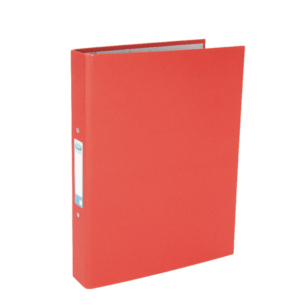 Elba A4 Red 25mm Paper Over Board Ring Binder Pack of 10 400033497