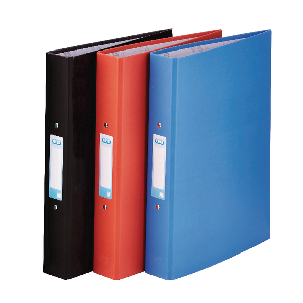 Elba A4 Assorted 25mm Paper Over Board Ring Binder Pack of 10 400033510