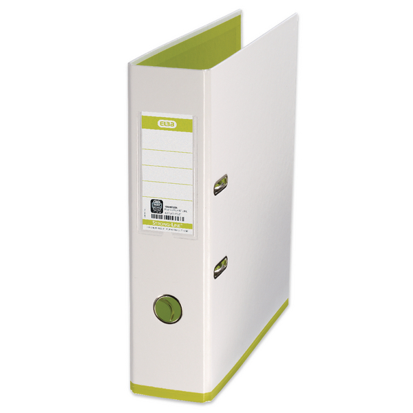 Elba MyColour A4 White and Lime Lever Arch File 100081032