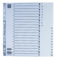 Elba A4 Polypropylene Index 1-20 White 100204786