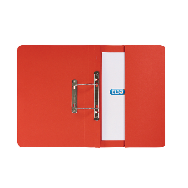 Elba Strongline Foolscap Red Spring Pocket File Pack of 25 100090278