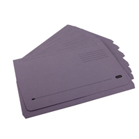 Elba Bright Purple Manilla Document Wallet (Pack of 50) 100090253