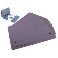 Elba Longflap Document Wallet Foolscap Purple (Pack of 50) with FOC Pk50 Blue Document Wallets