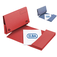 Elba Longflap Document Wallet Foolscap Red (Pack of 50) with FOC Pk50 Blue Document Wallets GX810383