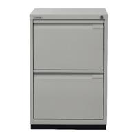Bisley 2 Drawer Filing Cabinet Desk Height Flush Fronted Lockable Goose Grey
