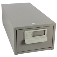 Bisley Grey Card Index Cabinet 5x3in (Pack of 1) FCB13GY