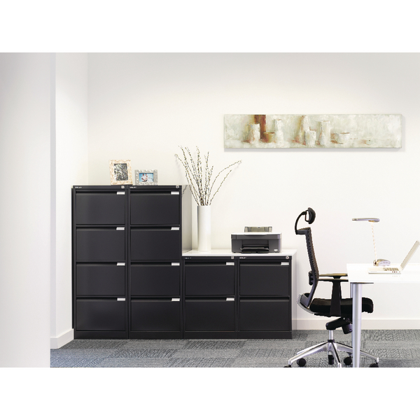 Bisley Black Two-Drawer Filing Cabinet BS2E Black