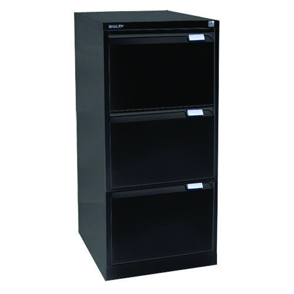 Bisley Black Three-Drawer Filing Cabinet BS3E Black